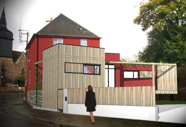 extension d'une maison de bourg